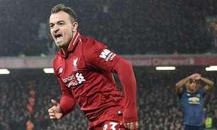 Napoli busca a contratação do meio-campista Xherdan Shaqiri, do Liverpool