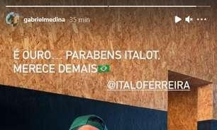 """Medina parabeniza Ítalo Ferreira por medalha de ouro em Tóquio: """"Merece demais"""""""