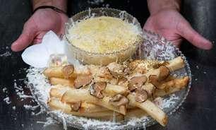 """Batatas fritas de 200 dólares em Nova York oferecem uma """"fuga"""" da realidade"""