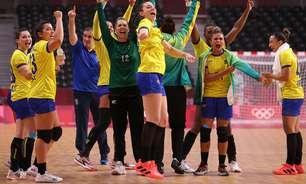 Brasil domina a Hungria e vence a 1ª no handebol feminino