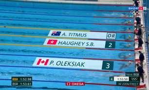 Ariarne Titmus é ouro e consegue o recorde dos 200m livre feminino; Katie Ledecky não vai ao pódio