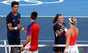 Com Djokovic, parceria sérvia elimina brasileiros nas duplas