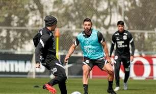 Giuliano treina em campo, e Corinthians segue preparação para pegar o Flamengo