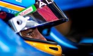 """Alonso diz que não esperava estar na F1 aos 40 anos, mas minimiza """"número grande"""""""