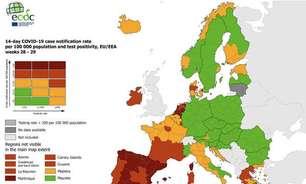 UE coloca Sardenha e Sicília na 'zona vermelha' em mapa de Covid