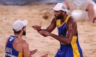 Evandro/Bruno vencem, avançam e podem pegar Alison/Álvaro nas quartas dos Jogos Olímpicos