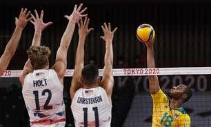 Brasil bate os EUA e encaminha vaga para as quartas no vôlei