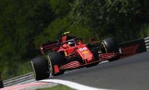 Ferrari detecta problema na Hungria e instala terceiro motor do ano no carro de Sainz