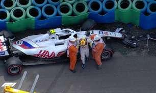 Schumacher sofre impacto de 30G em forte acidente no treino livre 3 do GP da Hungria