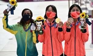 Levantamento do COI confirma que pódio com Rayssa Leal é o mais jovem da história das Olimpíadas