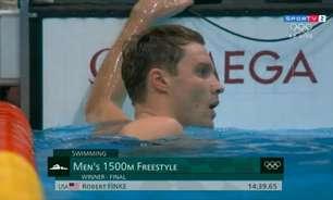 Natação: Robert Finke é ouro na prova dos 1500m livre masculino