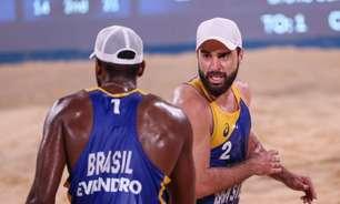 Evandro e Bruno perdem nas oitavas e estão fora dos Jogos Olímpicos