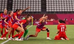 Canadá vence EUA no futebol feminino e vai à final olímpica