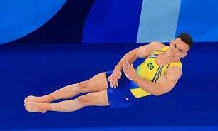 Caio Souza sofre queda e termina a final do salto em último