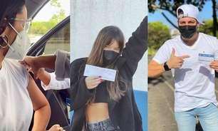 Ex-BBBs Juliette, Thais Braz e Caio são vacinados contra a covid-19