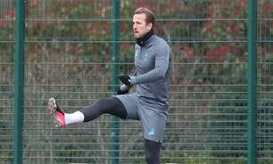 Kane não aparece em treino do Tottenham pelo segundo dia seguido