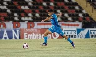 Kayan, do São Bento, comemora primeiro gol como profissional: 'Muito feliz'