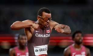 De Grasse ganha ouro, e 400m com barreiras tem novo recorde em Tóquio