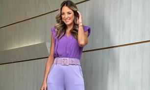 Ticiane Pinheiro segue trend de tom sobre tom com lilás