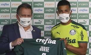 Apresentado, Jorge agradece oportunidade no Palmeiras e fala sobre recuperação de lesão