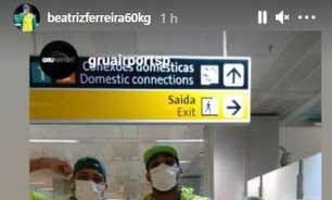 Bia Ferreira, Hebert Conceição e Abner desembarcam no Brasil