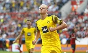 Com dois de Haaland, Borussia Dortmund bate o Leverkusen