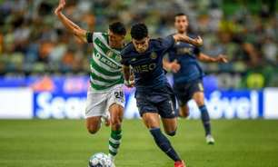 Em partida com expulsão, Sporting e Porto ficam no empate pelo Português