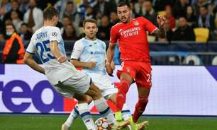 Dínamo de Kiev e Benfica ficam no empate sem gols em jogo pelo Grupo E da Champions League