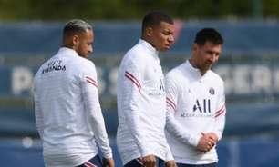 Messi, Neymar e Mbappé estão prontos para estreia do PSG na Champions contra o Club Brugge