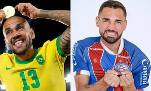 Gilberto 'convida' Daniel Alves para o Bahia nas redes sociais