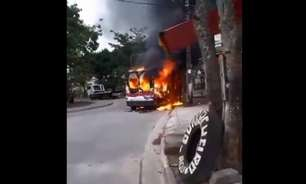 Milicianos incendeiam vans em guerra na zona oeste do Rio