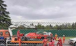 Ferrari realiza teste privado com carro de 2018 em Ímola. Leclerc tem problemas
