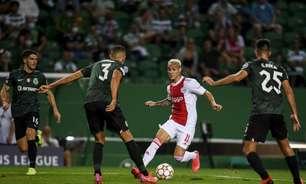 Antony celebra atuação em goleada do Ajax na estreia da Champions League