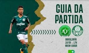 Chapecoense x Palmeiras: onde assistir ao duelo pelo Brasileirão, arbitragem e escalações