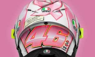 Rossi apresenta capacete rosa especial para homenagear filha no GP de San Marino