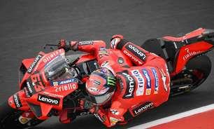 Bagnaia bate Quartararo por 0s039 e lidera terceiro treino da MotoGP em San Marino