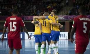 Brasil vence o Panamá e termina a fase de grupos da Copa do Mundo de futsal com 100% de aproveitamento