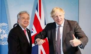 """""""Acionem os alarmes"""": chefe da ONU e premiê britânico reúnem líderes para debater o clima"""