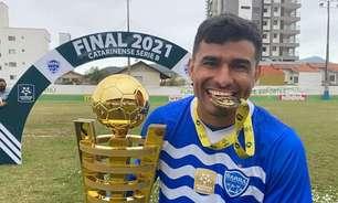 """Diego Ceará comemora título do Catarinense B pelo Barra: """"Felicidade inexplicável"""""""