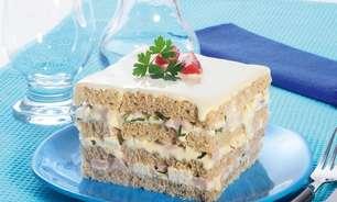 Receita de bolo salgado light delicioso