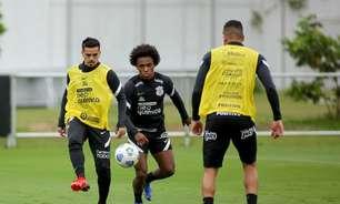 De olho no Dérbi, Corinthians faz treino em campo reduzido e de finalizações
