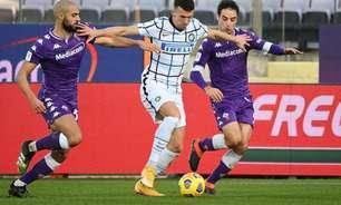 Inter de Milão sai atrás, mas vira contra a Fiorentina e assume liderança do Campeonato Italiano
