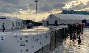 Chuva forte alaga paddock às vésperas da chegada das equipes em Sóchi