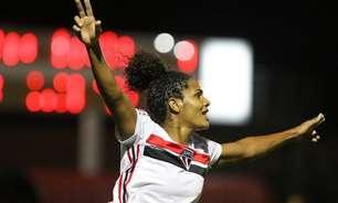 Artilheira do São Paulo, Duda concorre ao prêmio de melhor jogadora do Brasileirão Feminino