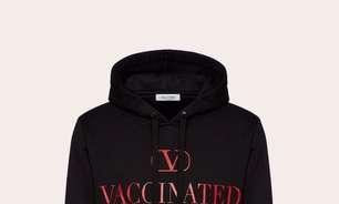 Valentino produz moletom de US$690 para apoiar vacinação contra Covid-19
