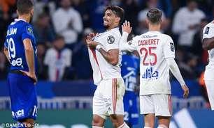 Lucas Paquetá celebra mais um gol em bom momento pelo Lyon: 'Feliz por essa fase artilheira'