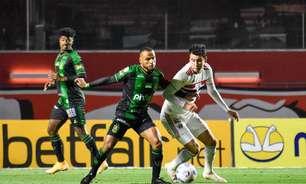 São Paulo joga mal e não sai do zero com o América-MG no Morumbi