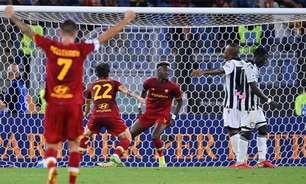 Roma sofre, mas derrota Udinese e entra no G-4 do Campeonato Italiano