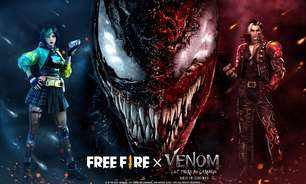 Free Fire terá evento de Venon: Tempo de Carnificina