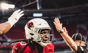 DeAndre Hopkins segue como dúvida para confronto entre Arizona Cardinals e Jacksonville Jaguars